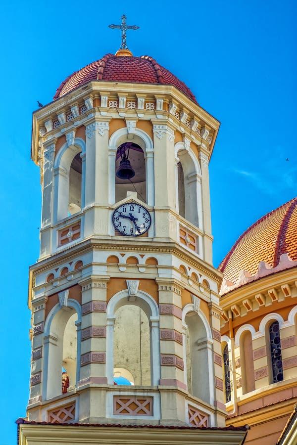 Detalj av den storstads- ortodoxa templet av helgonet Gregory Palamas arkivbild