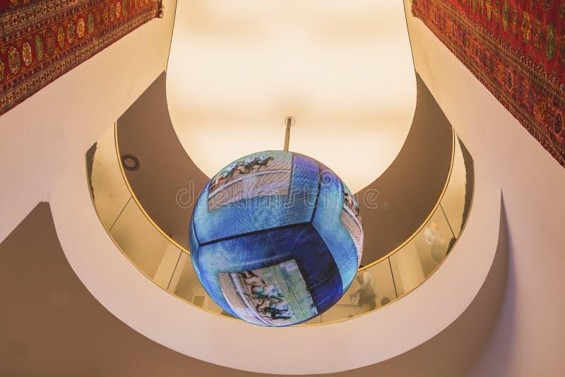 Detalj av den Turkmenistan paviljongen på expon 2015 i Milan, Italien arkivfoton