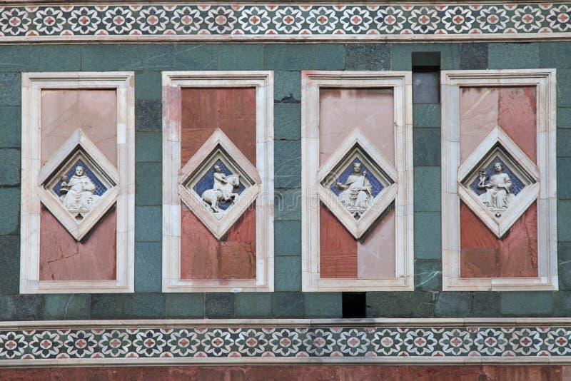 Detalj av di Santa Maria Del Fio för basilika för domkyrkakyrkaDuomo fotografering för bildbyråer