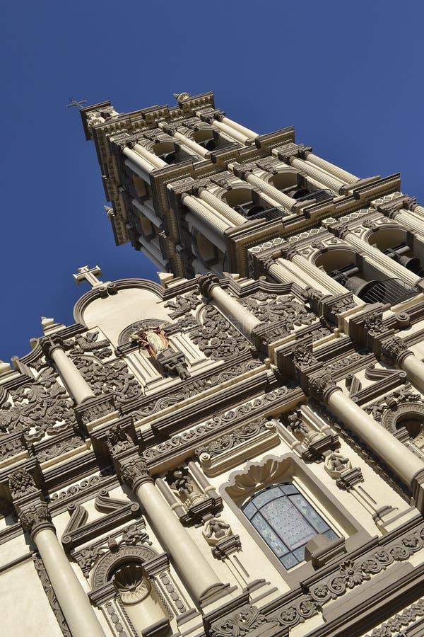 Detalj av domkyrkan i Monterrey Mexico royaltyfri foto