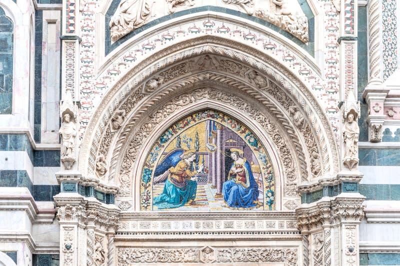 Detalj av domkyrkan Santa Maria del Fiore, Florence, Italien arkivfoto