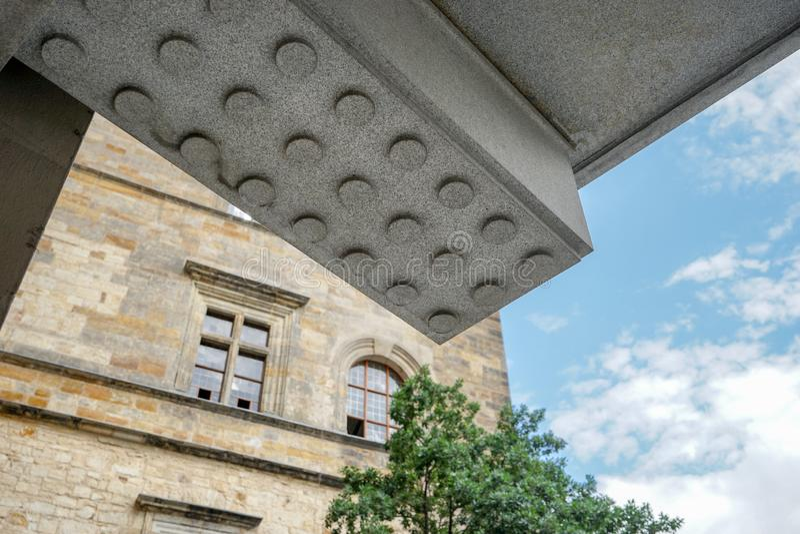 Detalj av en byggnad av den Prague slotten royaltyfria foton