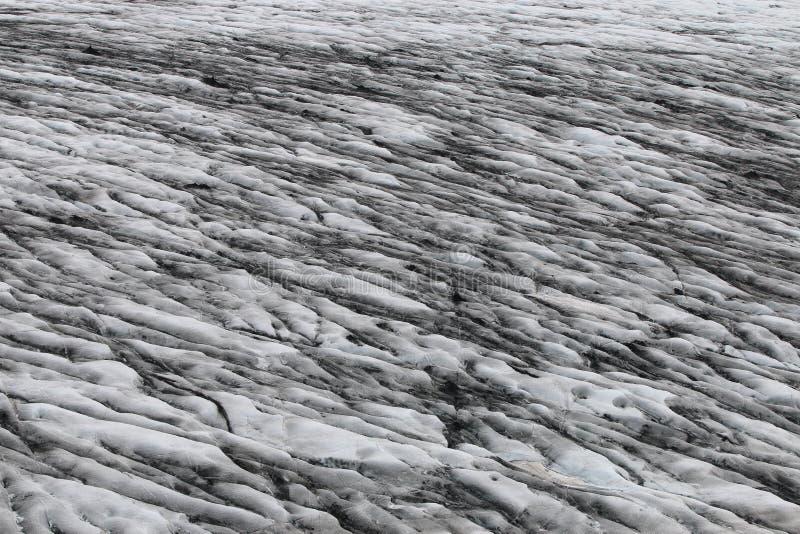 Detalj av en glaciär på Vatnajokull arkivbild