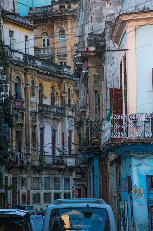 Detalj av en kubansk byggnad royaltyfria foton