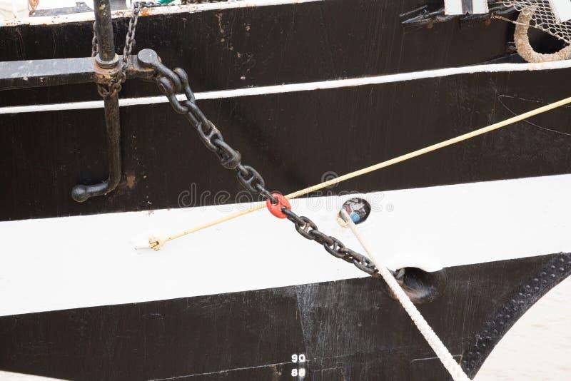 Detalj av en mast för skeppkopia tre arkivfoton