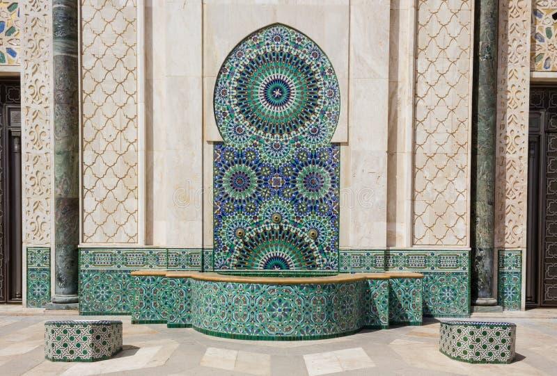 Detalj av en moské i Casablanca fotografering för bildbyråer