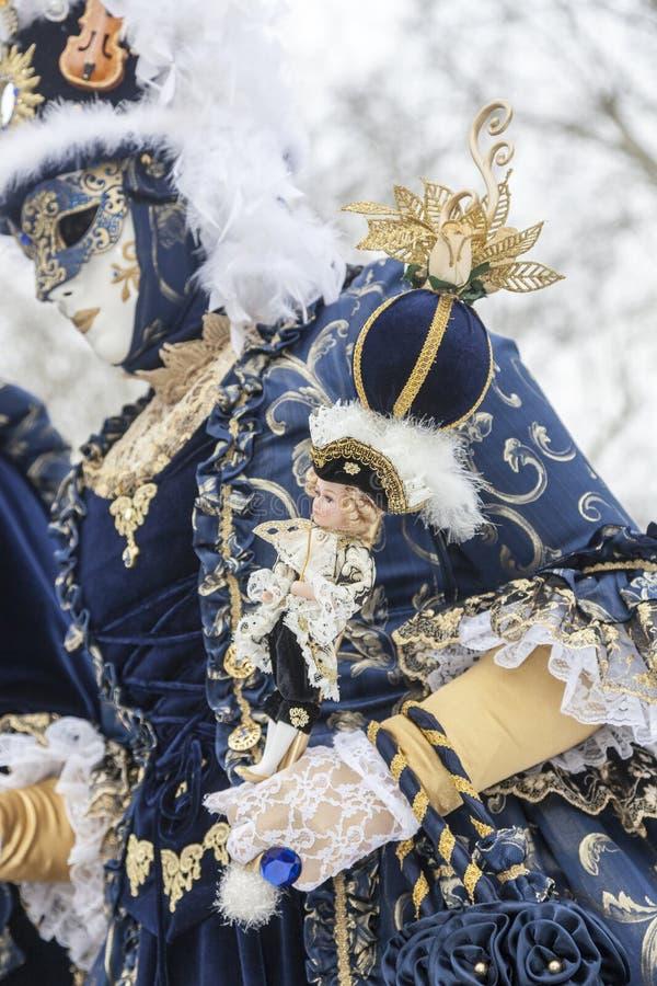 Detalj av en Sceptre - Annecy Venetian karneval 2013 royaltyfri fotografi