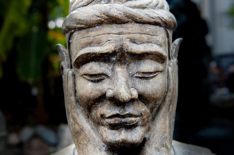 Detalj av en staty på Wat Pho Temple, Bangkok arkivfoto