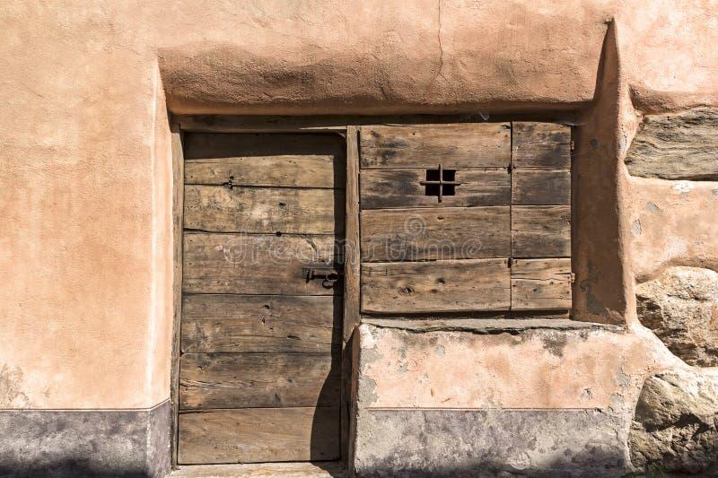 Detalj av ett traditionellt hus arkivbilder