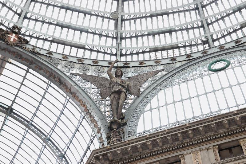 Detalj av Galleria Umberto I i Naples fotografering för bildbyråer