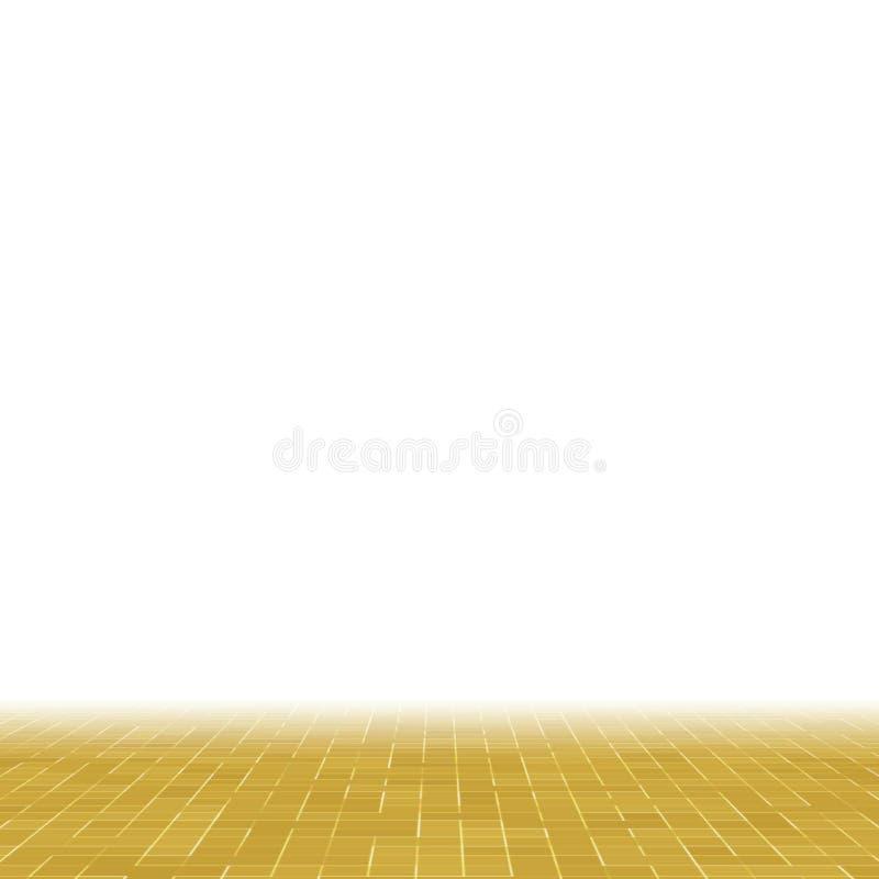 Detalj av gul guld- smyckad byggnad för Mosiac textur abstrakt keramisk mosaik seamless abstrakt modell Abstrakt begrepp vektor illustrationer