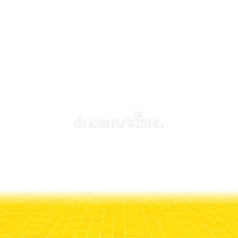 Detalj av gul guld- smyckad byggnad för Mosiac textur abstrakt keramisk mosaik seamless abstrakt modell Abstrakt begrepp royaltyfri illustrationer