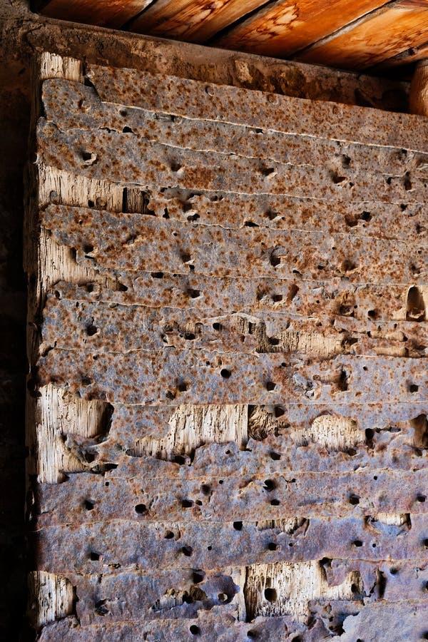 Detalj av ingången till medeltida Monemvasia, Grekland arkivfoto