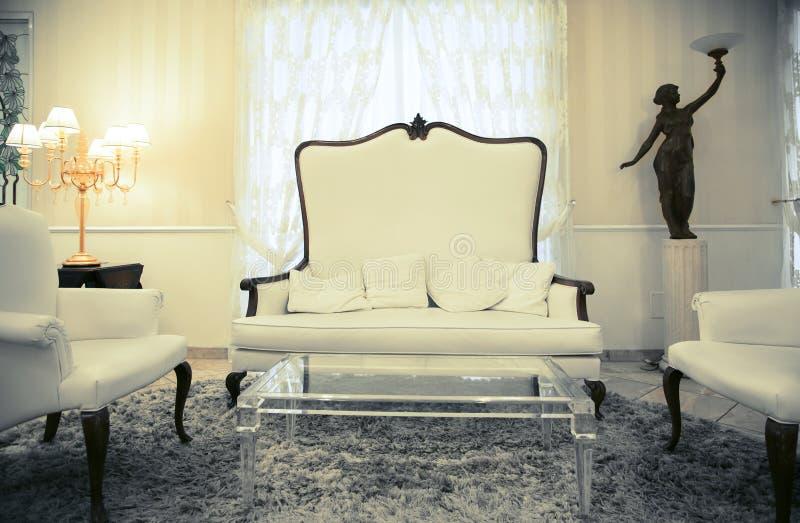 Detalj av inre i klassiskt hotell royaltyfria bilder