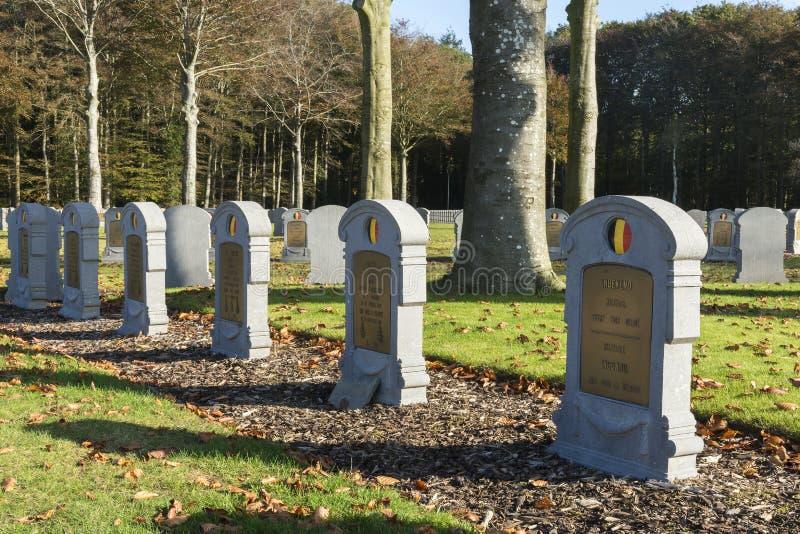 Detalj av kyrkogården för belgare WW I i Houthulst royaltyfria bilder