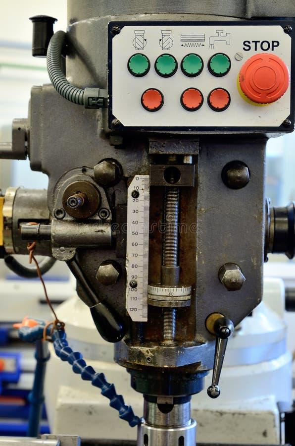Detalj av maskiner för en malning royaltyfri bild