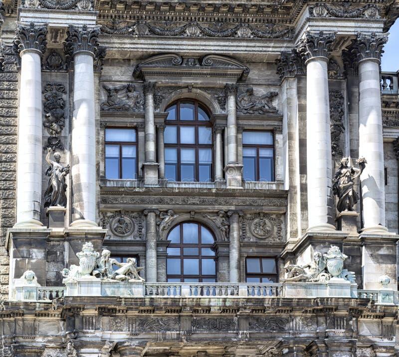 Detalj av museet av etnologi i Burggarten Österrike vienna arkivfoton