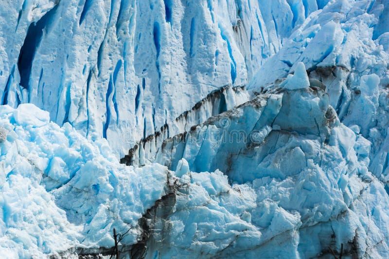 Detalj av Perito Moreno Glacier i Argentina arkivfoton