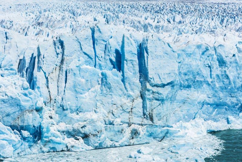 Detalj av Perito Moreno Glacier i Argentina fotografering för bildbyråer