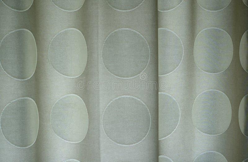 Detalj av polka prack gardiner arkivfoton
