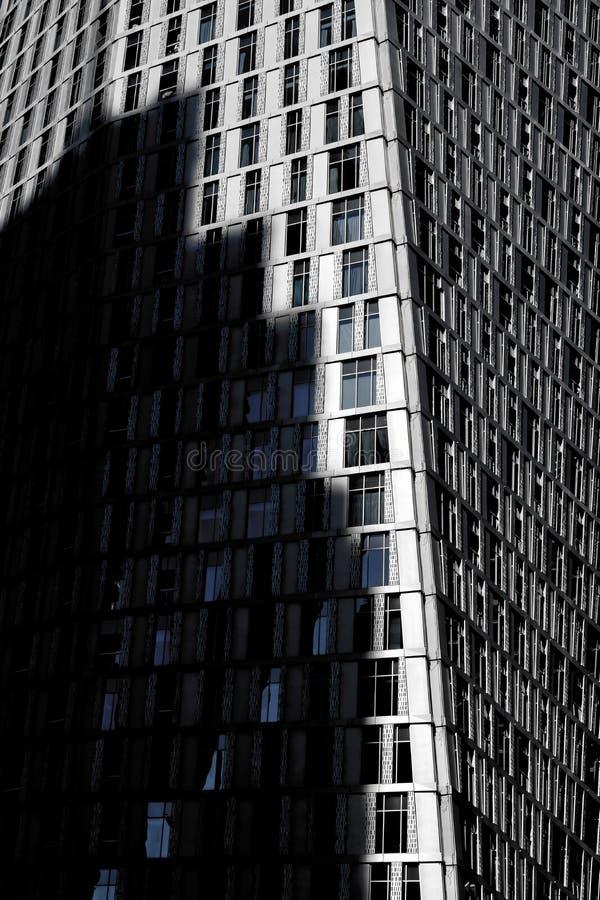 Detalj av skyskrapan med rester i dubai UAE arkivfoton