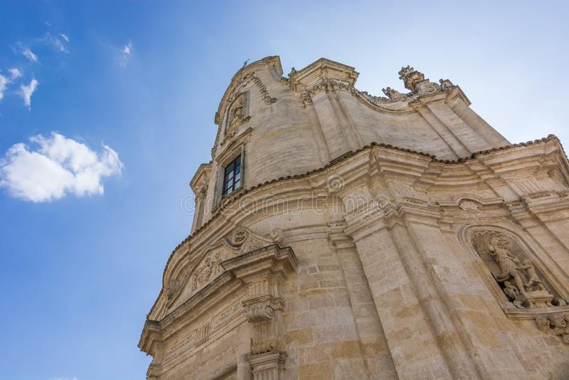 Detalj av staden av Matera, Basilicata, Italien TuffArcitecture detalj arkivbilder