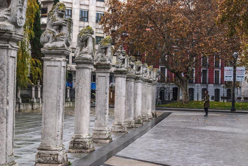 Detalj av staden av Valladolid, Castilla la Mancha arkivfoton
