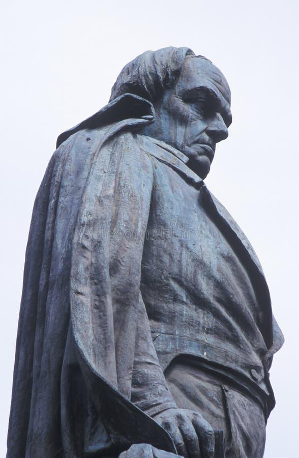 Detalj av statyn av Daniel Webster royaltyfria foton
