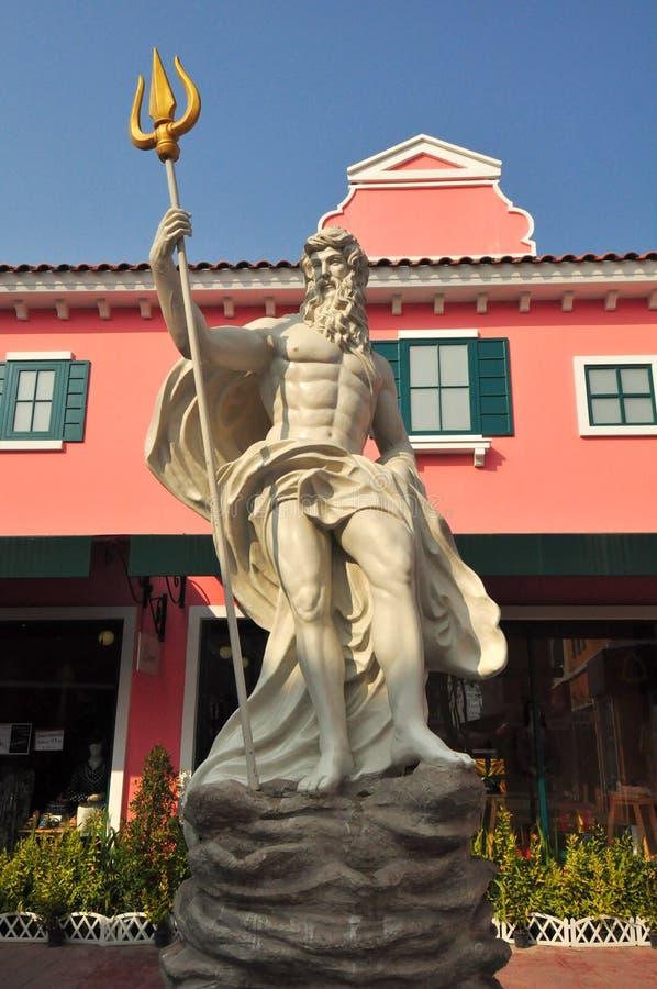 Detalj av statyn av Poseidon på veneziahua hin arkivbild