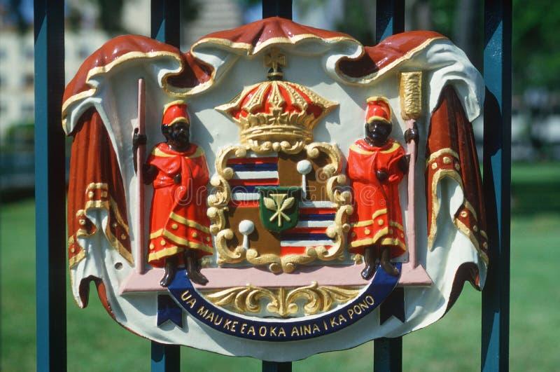 Detalj av tillståndscapitolen av Hawaii royaltyfri foto