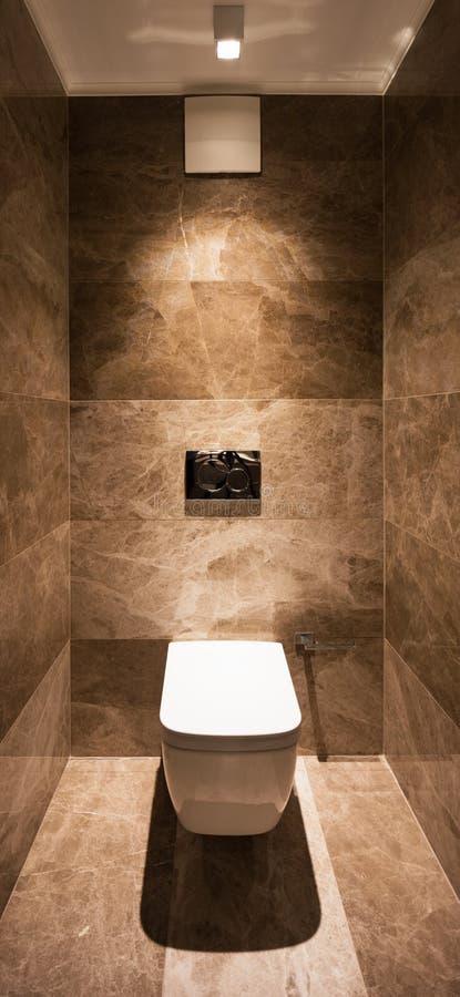 Detalj av toaletten i ett marmorbadrum royaltyfri foto
