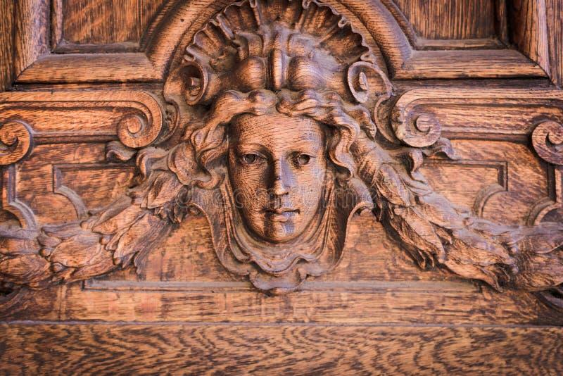 Detalj av trädörren arkivfoto