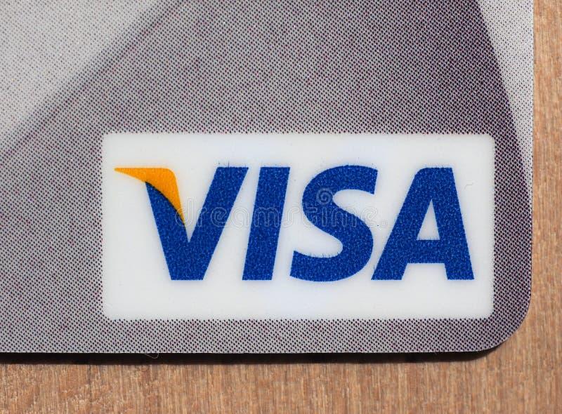 Detalj av VISUMkreditkorten arkivbild