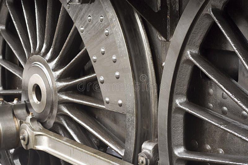 Detalj för ångadrevhjul fotografering för bildbyråer