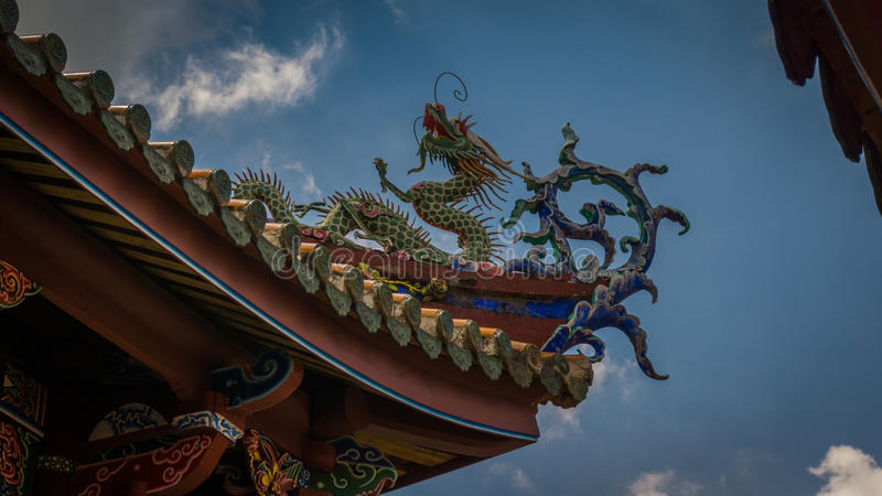 Detalj för Bo-En tempeltak arkivfoton