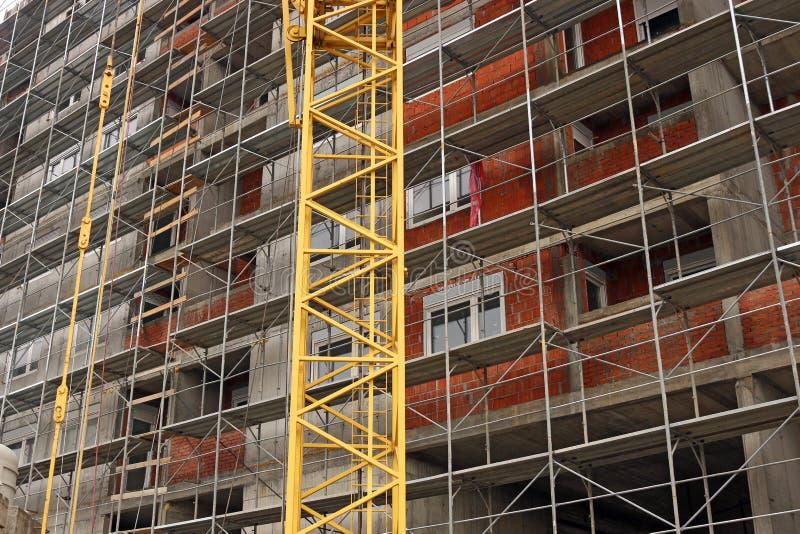 Detalj för byggnadskonstruktionsplats arkivfoto