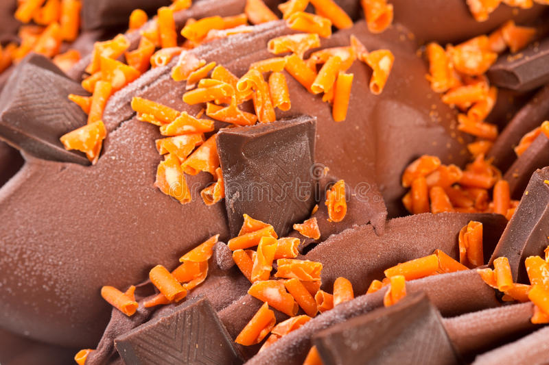 Detalj för glass för chokladstänger arkivfoto