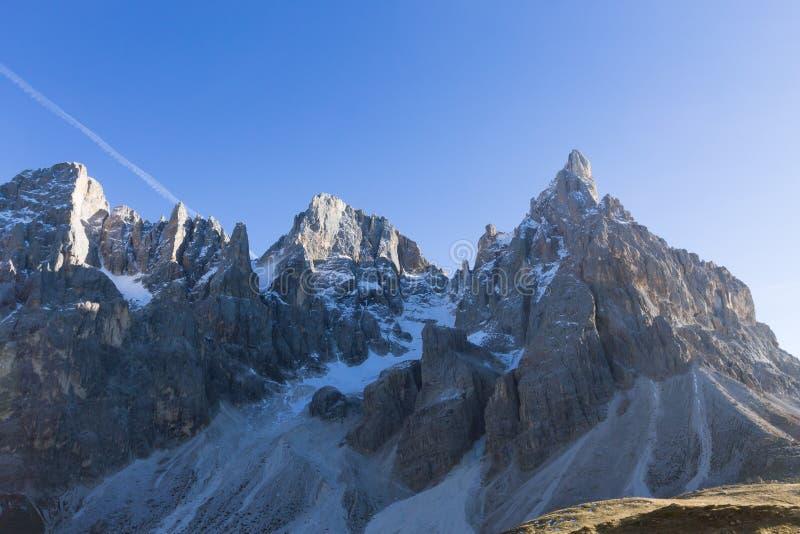 Detalj för högt berg fotografering för bildbyråer