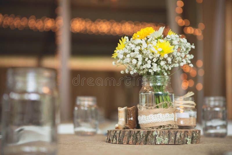 Detalj 3 för inställning för ställe för bröllopmottagande arkivbilder