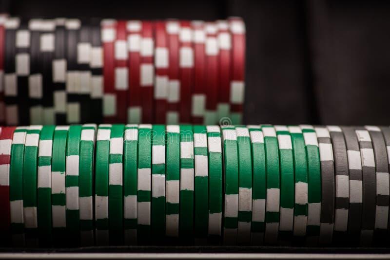 Detalj för pokerchiper fotografering för bildbyråer