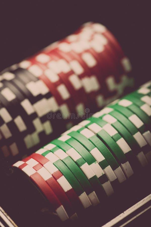 Detalj för pokerchiper arkivfoton