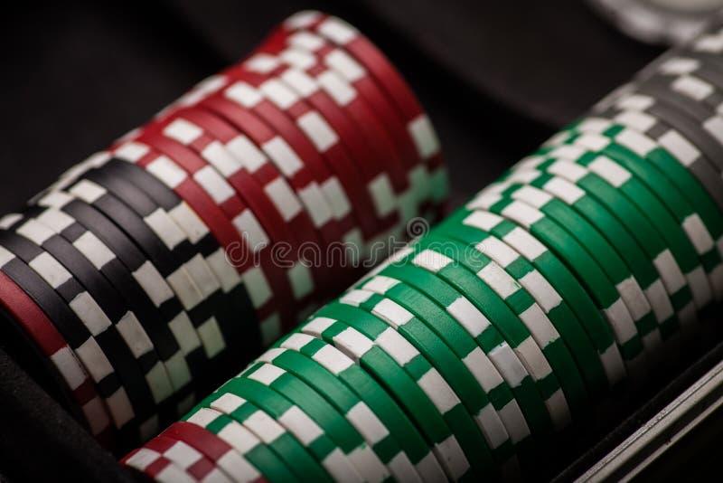 Detalj för pokerchiper arkivbilder