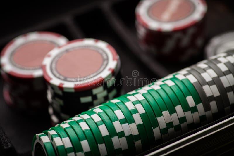 Detalj för pokerchiper royaltyfri foto