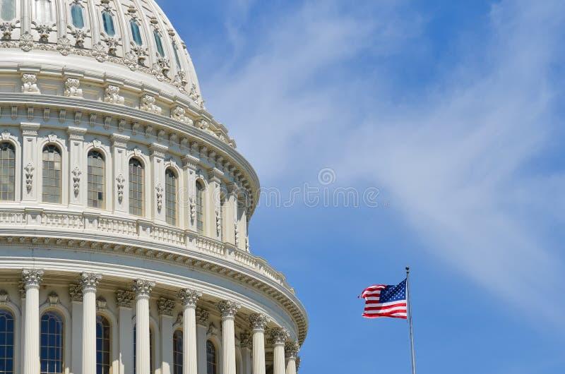 Detalj för USA-Kapitoliumkupol, Washington DC royaltyfria bilder