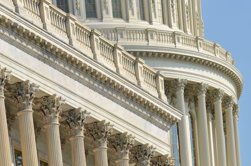 Detalj för USA-Kapitoliumkupol, Washington DC arkivbild