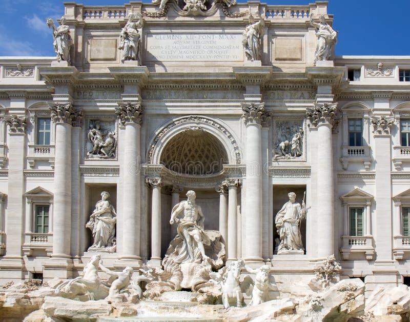 Detalj från Trevi-springbrunnen i Rome royaltyfri foto