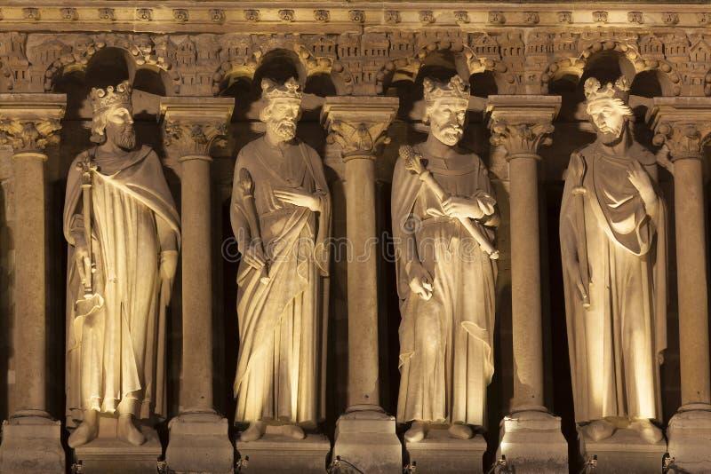 Detalj i domkyrkan av Notre Dame, Paris royaltyfria bilder