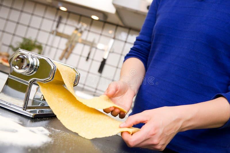 detalj som gör pasta arkivbilder