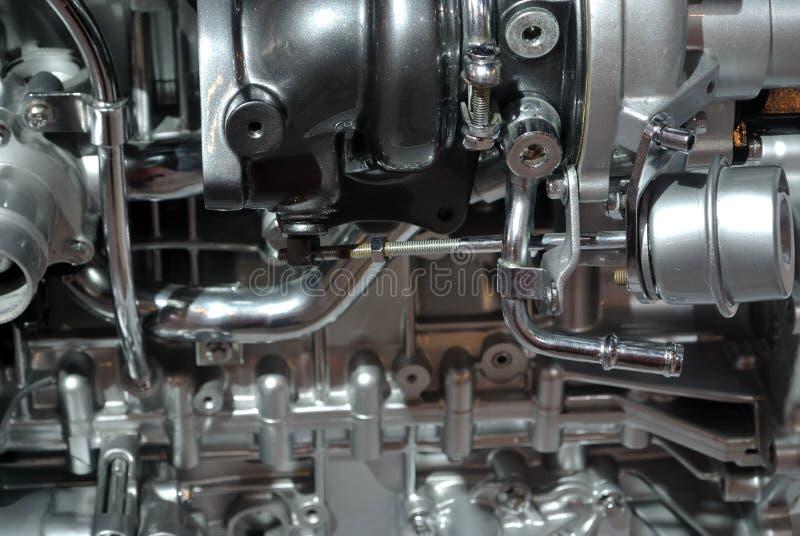 Detaljer av bilmotorn arkivfoton