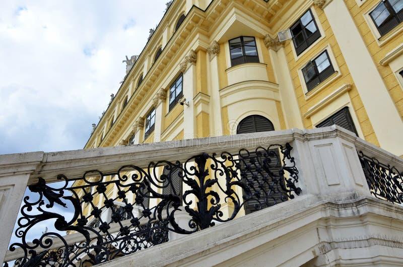Detaljer av den imperialistiska slotten i Wien royaltyfri fotografi